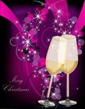 Violet Christmas background. Gold and silver Royalty Free Stock Photo