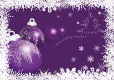 Violet christmas ball Royalty Free Stock Image