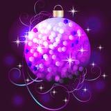 Violet Christmas ball Royalty Free Stock Photography