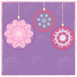 Violet Christmas-ballen Stock Afbeeldingen