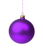 Violet Christmas bauble Stock Image