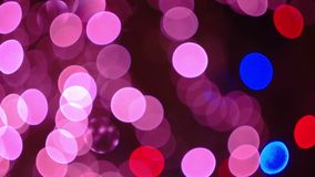 Violet Christmas and New Year Decoration. Abstract. Christmas and New Year Decoration Defocused. Abstract Blurred Bokeh Holiday Violet Background. Blinking stock video