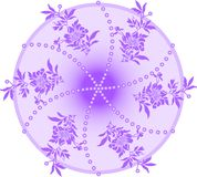 Violet circle Royalty Free Stock Photography