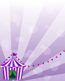 A violet circus tent Stock Photography