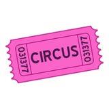 Violet Circus Ticket Flat Icon su bianco royalty illustrazione gratis