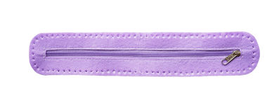 Violet closed zipper Stock Photography