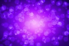 Violet Color Blur Bokeh for Background. Stock Photo