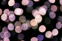 Violet color bokeh and blur of light stock image
