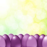 Violet color Easter eggs background Royalty Free Stock Photos