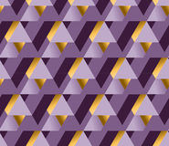 Violet color and gold metal texture vector background. Royalty Free Stock Photo