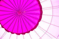 Violet color hot air balloon Royalty Free Stock Photography