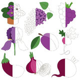 Violet Color, il grande gioco del bambino da colorare dall'esempio mezzo Fotografia Stock Libera da Diritti