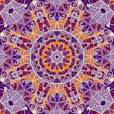 Violet color mandala. Symmetry asian pattern Stock Photos