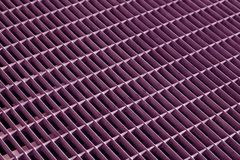 violet color mtal grid floor with blur effect. Stock Photography