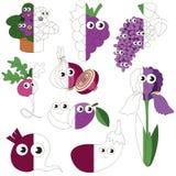 Violet Color Oblects divertente, il grande gioco del bambino da colorare dall'esempio mezzo Fotografie Stock Libere da Diritti