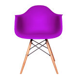Violet color plastic chair isolated on white Royalty Free Stock Images