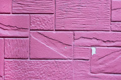 Violet color stone wall Stock Photography