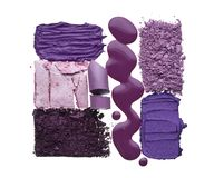 Violet cosmetics texture stock images