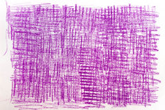 Violet crayon drawings on paper background texture Royalty Free Stock Photography