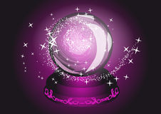 Violet cristal ball Stock Photo