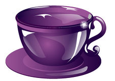 The violet cup Royalty Free Stock Photo