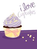 Violet cupcake Stock Photo