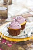 Violet cupcake Royalty Free Stock Photo