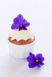 Violet cupcake Royalty Free Stock Image