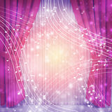 Violet curtains Stock Images