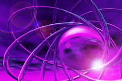 Violet 3d ornament Royalty Free Stock Photo
