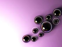 Violet_dark_circles_abstraction Royalty Free Stock Image