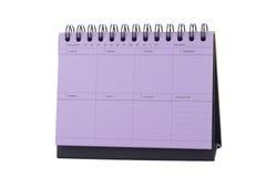 Violet Desk Calendar Note Photos libres de droits