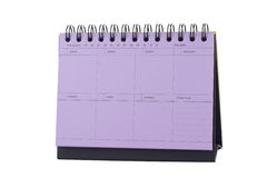 Violet Desk Calendar Note Royalty Free Stock Photos