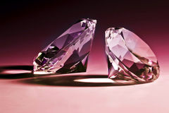 Violet diamond. Fine image of diamond classic cut Royalty Free Stock Photography