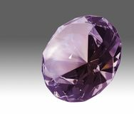 Violet diamond in gradient back Royalty Free Stock Photography