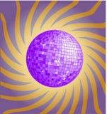 Violet disco ball Stock Photo