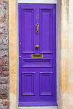 Violet doors Stock Photo