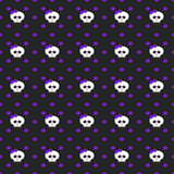 Violet dots with skulls over dark background Royalty Free Stock Image