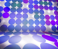 Violet Dots Stage Background Stock Photography