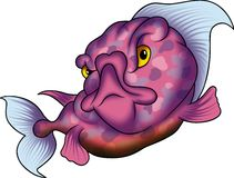 Violet dotted fish. Fish 35 - High detailed illustration - Violet dotted fish Stock Images