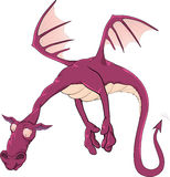 Violet dragon Royalty Free Stock Image