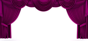 Violet drapery frame Stock Photography