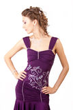 Violet dress. Stock Images