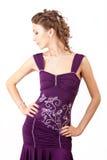 Violet dress. Stock Images