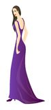 Violet dress Royalty Free Stock Photo