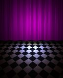 Violet drop scene Royalty Free Stock Photography