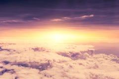 Violet dusk sky with cloud dramatic. Violet dusk sky with cloud myth fantasy cloudscape Royalty Free Stock Images