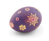 Violet Easter egg Stock Image