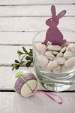 Violet easter hare Stock Photography