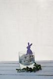 Violet easter hare Stock Image